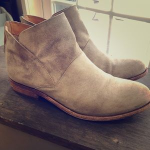 Kork-ease suede leather bootie
